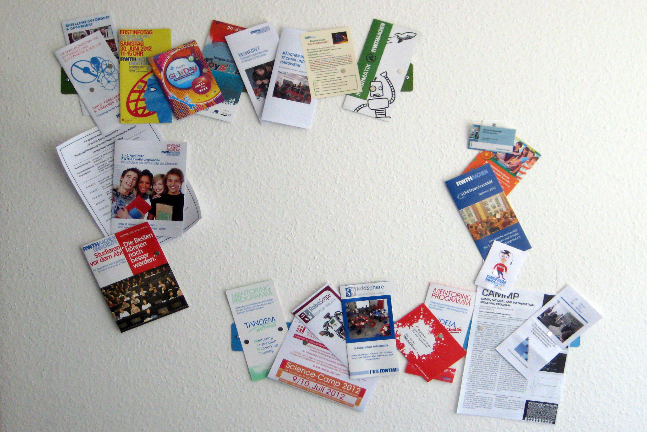various flyers